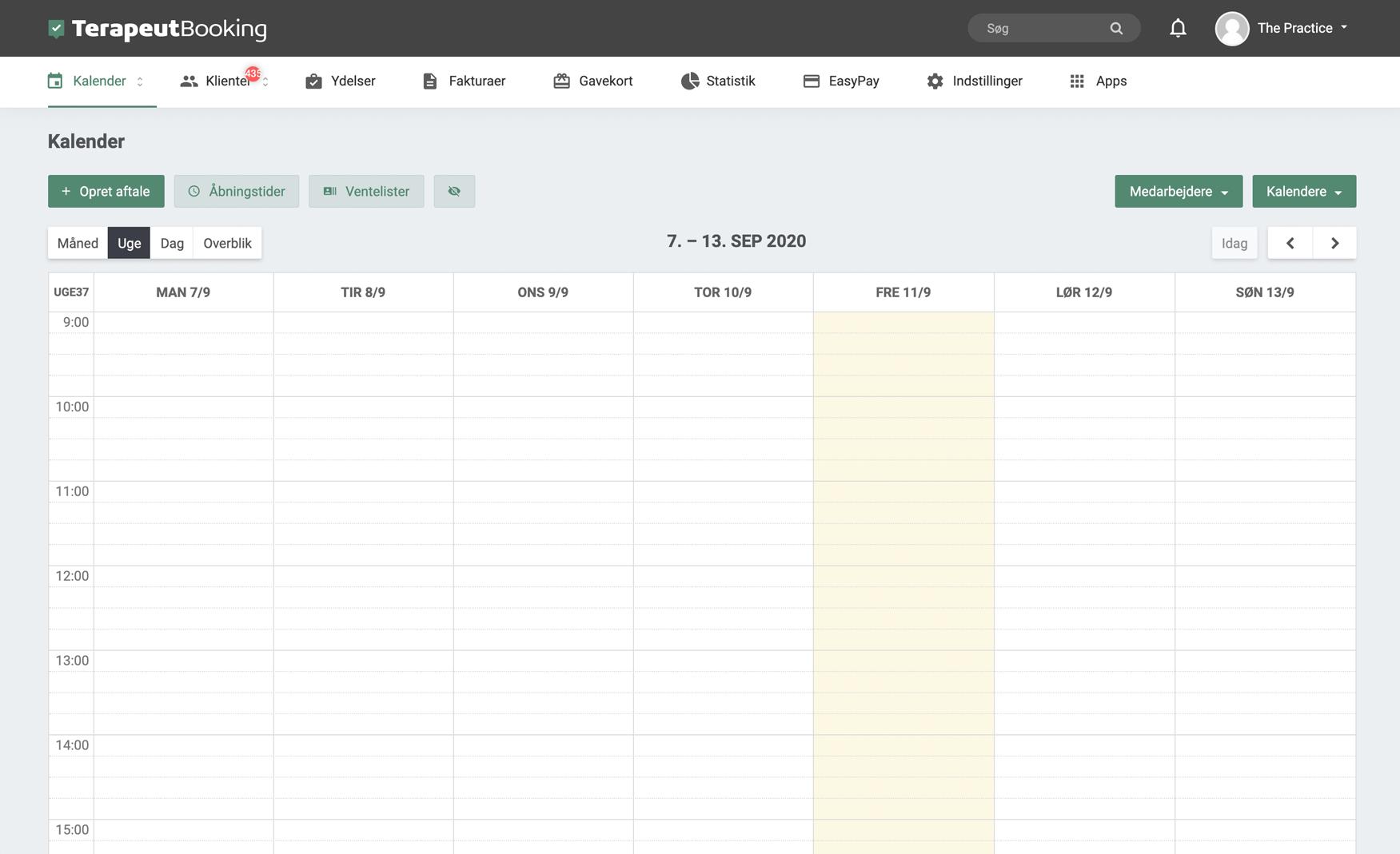 Opret en gratis konto i dag og få adgang til et smart kalender og booking system