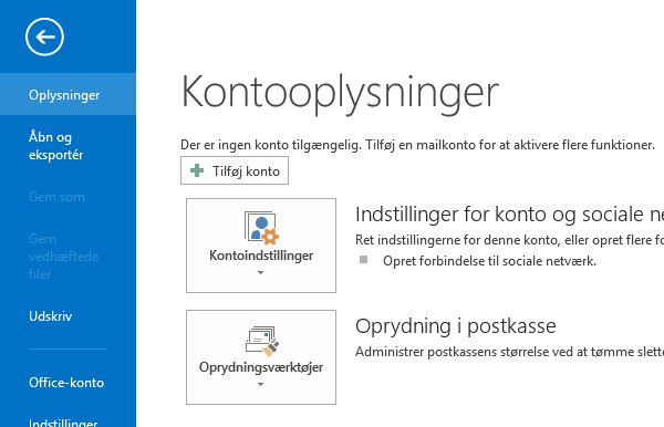 Terapeut Booking Microsoft Outlook 2013 synkronisering