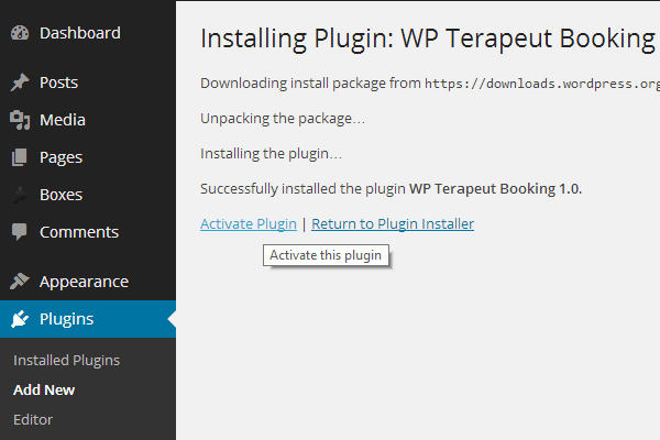 Terapeut Booking WordPress plugin
