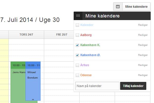 Flere lokationer i Mine kalendere 3