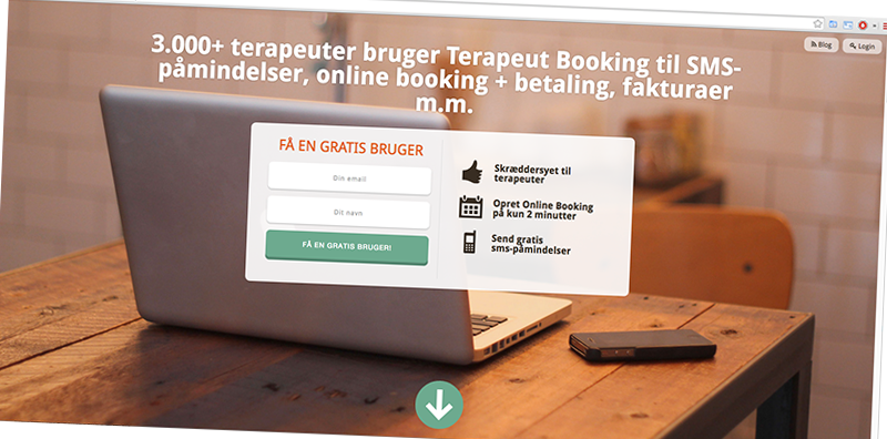 Terapeut Booking screenshot/
