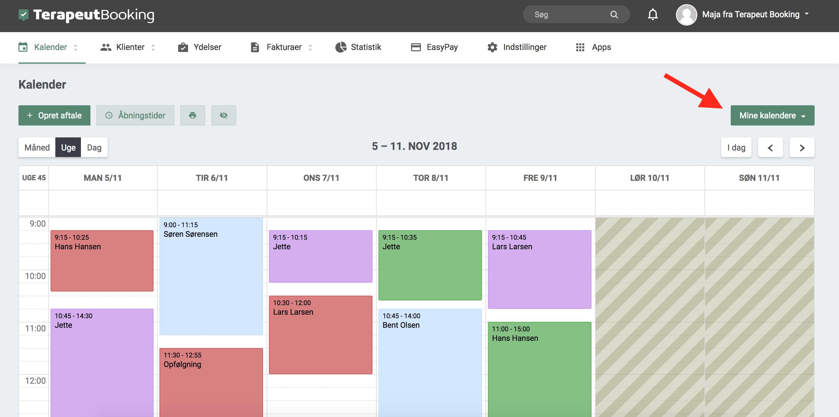 082d222f Når man klikker på knappen, vises der en dialog-boks, som indeholder de  kalendere, man har oprettet. Ved at klikke på den enkelte kalender, ...