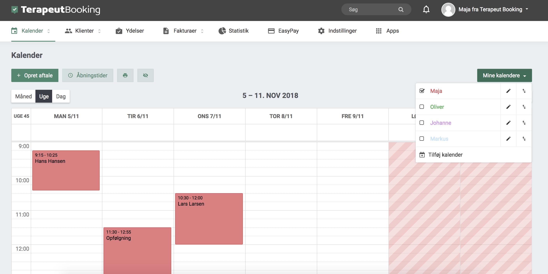 """1984d756 Hvis man vil tilføje en ny kalender, kan man nemt gøre det ved at klikke på  """"Tilføj kalender"""" og derefter skrive et navn og vælge en farve til den nye  ..."""