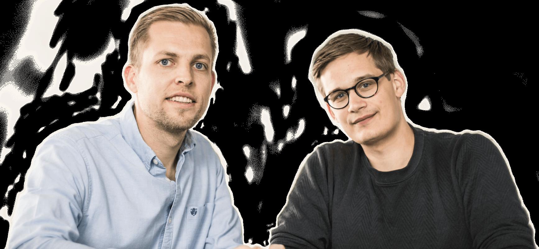 Bo Møller og Emil Højbjerg ejere og stiftere af Terapeut Booking