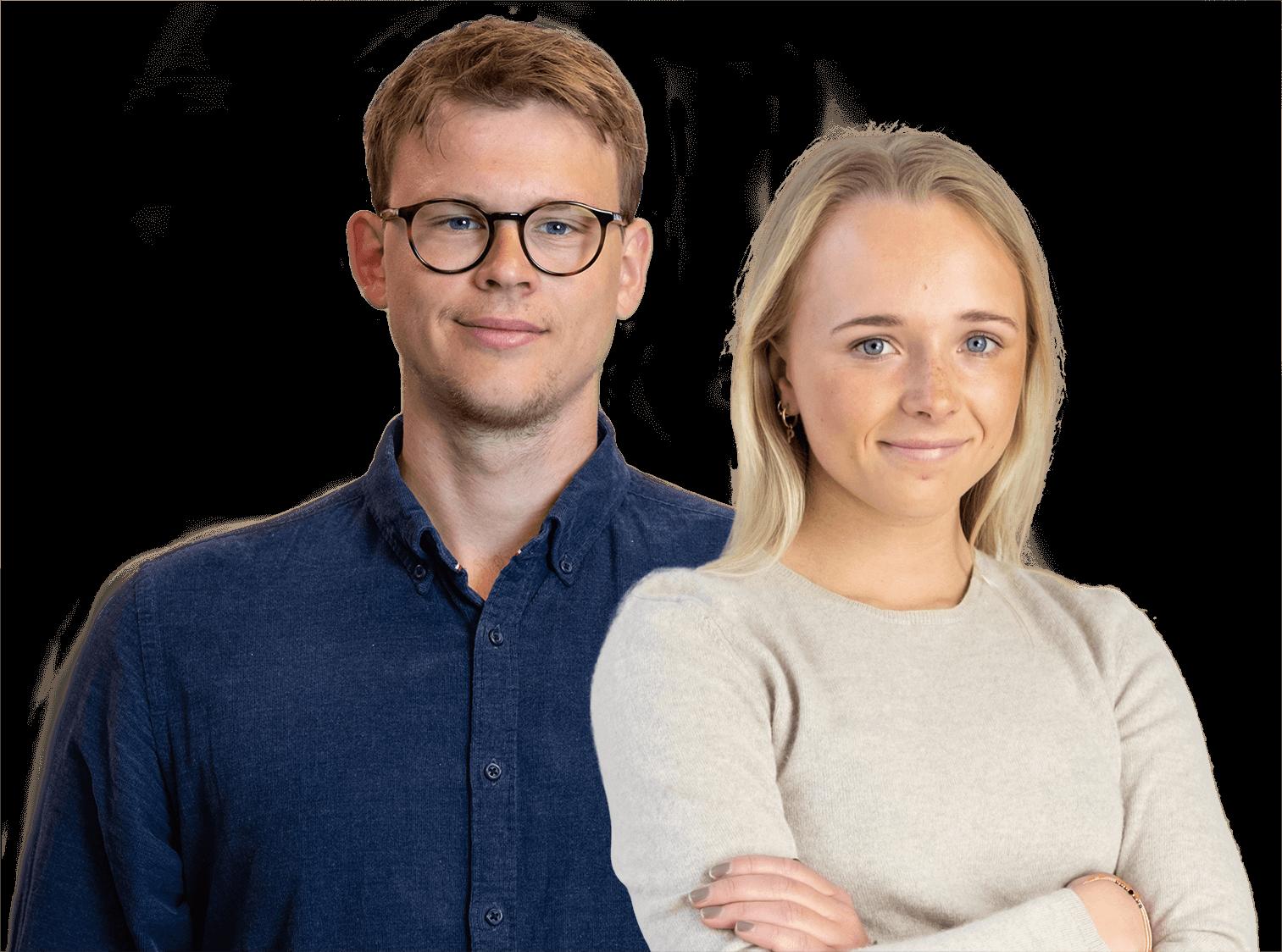 Oliver og Pia, chef og medarbejder i Terapeut Booking