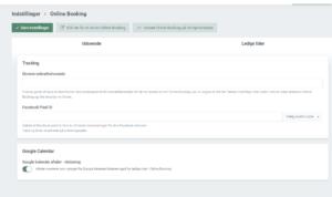 Blokering af aftaler i Terapeut Booking gennem Google calendar
