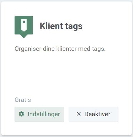 Billede af Klient Tags i vores app-menu